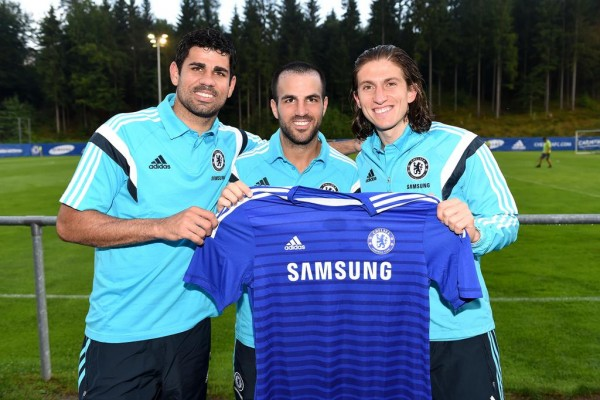 Chelsea are One of the World's Most Recognised Sporting Brands and Signed the Trio of Philipe Luiz, Diego Costa and Cesc Fabregas Last Summer. Image: Chelsea via Getty.