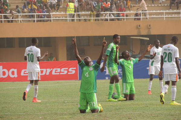 A Win for Nigeria against Guinea Will See Them Through to the 2015 Fifa U-17 World Cup. Image: Caf via AFP.