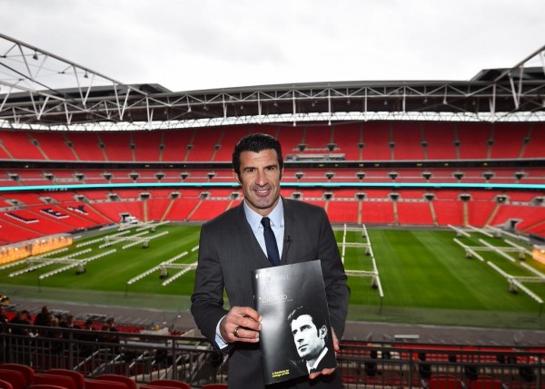 Figo Launched His Campaign Manifesto at Wembley Stadium on Thursday. Image: Getty.