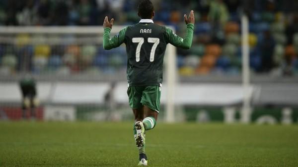 Luis Nani Celebrates Scoring for Sporting Lisbon Last Season. Image: AFP.