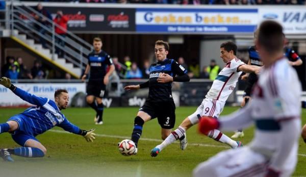Robert Lewandowski Opened Scoring Against Paderborn. Image: Getty.