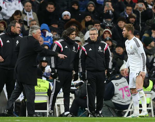 Sergio Ramos Was Substituted after Eight Minutes of Wednesday's Win Over Sevilla With Hamstring Problem. Image: AS.