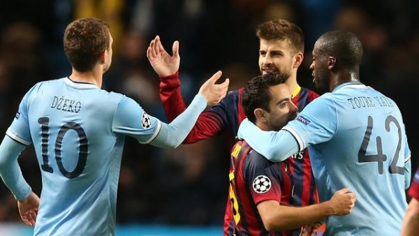 Yaya Toure Will Be Making His Third Appearance against His Former Club Barcelona on Tuesday Night. Image: Getty.