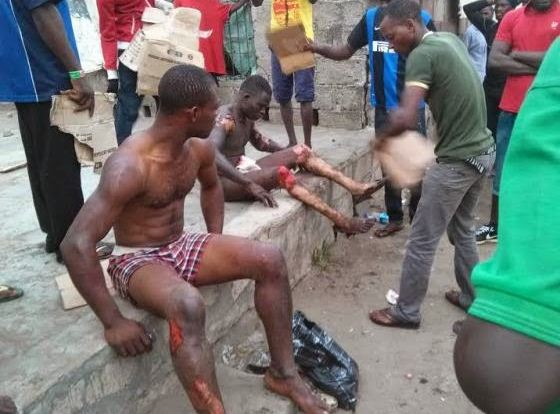 Graphic Photos: Fire At Mile 12 'Diesel Black Market'