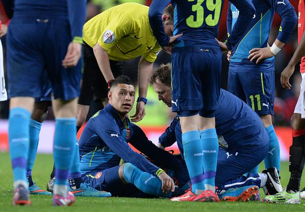 Alex Oxlade Chamberlain faces Four Weeks on the Sidelines. Image: PA.