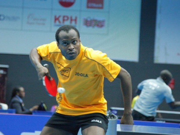 Aruna Quadri Cruised to an Opening Round Win Over Monday Olabiyi of Benin Republic on Wednesday at the Molade Okoya-Thomas Indoor Sports Hall. Image: NTTF.