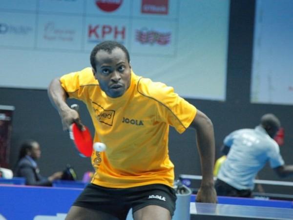Aruna Quadri Cruised to an Opening Round Win Over Monday Olabiyi of Benin Republic on Wednesday at the Molade Okoya-Thomas Indoor Sports Hall. Image: NTTF.