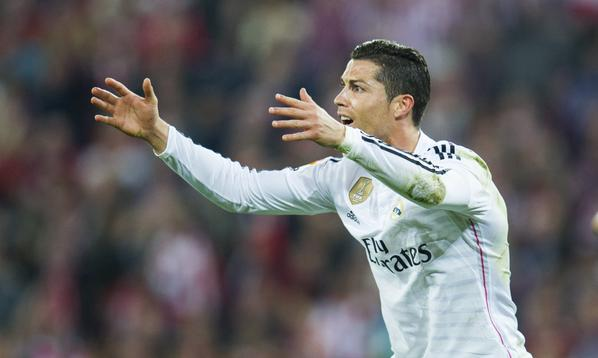 Cristiano Ronaldo Exasperated During Real's 1-0 Defeat at Athletic Bilbao. Image: Getty.