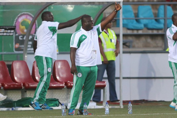 Edwin Okon Says He Is Not Relying on Foreign-Based Stars for Falcons Qualification Targets. Image: Caf via BackPagePix.
