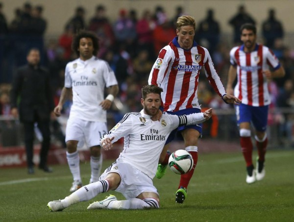 Fernanco Torres Will Look to Spearhead Atleti's Attack at the Santiago Bernnebeu Again in the Return Leg. Image: AFP.