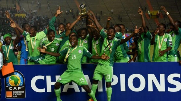 Flying Eagles Celebrate After Winning a Record Extending Seventh AYC. Image: AFP.