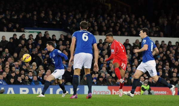 Jordon Ibe Put Up an Impressive Performance in the Recent Goalless Merseyside Derby and, Even Struck the Post. Image: Getty.