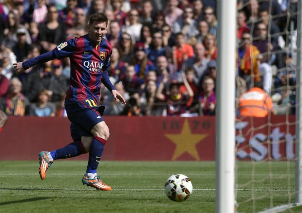 Lionel Messi Scores Hat-Trick as Barca Beat Rayo to Go Top of La Liga. Image: Getty.