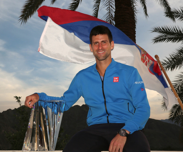 Novak Djokovic Clinches His 50th Career ATP Title at Indian Wells. Image: BNP Paribas.