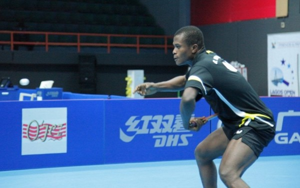 Ojo Onaolapo Beaten By Egypt's Shady Magdy in the U-21 Men's Singles Lagos Open World Tour Final. Image: NTTF.