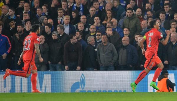 Thiago Silva Wheels Away in Joy After Scoring PSG's Winner in Extra Time. Image: AFP/Getty.