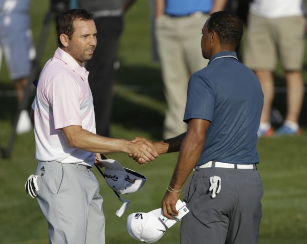 Tiger Woods and Sergio Garcia- One of the Fiercest Rivalry in the World of Golf. Image: Getty.