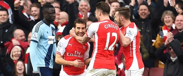 Flamini wrapped up the victory for Arsenal