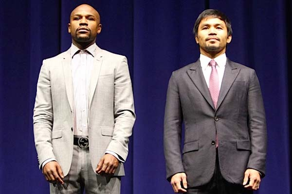 Mayweather and Pacquaio Will Face Off in the Richest Fight of Many Decades on Saturday. Image:  Joe Miranda/ Fight News.