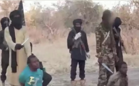 Photos: Boko Haram Video Shows Two Men Accused Of Spying Being Beheaded