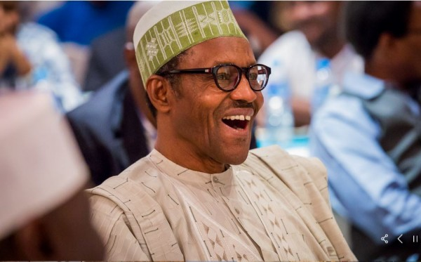 Buhari laughs