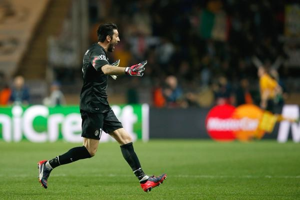 Gianluigi Buffon Celebrates after the Final Whistle as Juventus Reach the Champions League Last Four Since the 2002-03 Season. Image: AFP/Getty.