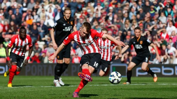 James Ward-Prowse Opens Scores for Aston Villa from the Penalty Spot. Image: Getty.