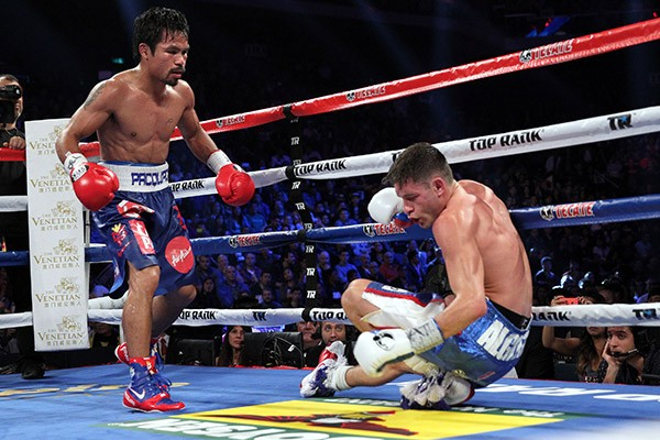 Manny Pacquaio Pictured During His Win Over Chris Algheri in November Last Year.