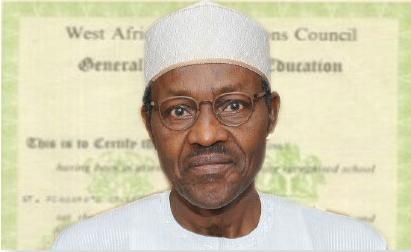 Muhammadu Buhari-Certificate