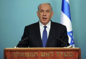 Israeli Prime Minister Netanyahu delivers a statement to the media in Jerusalem