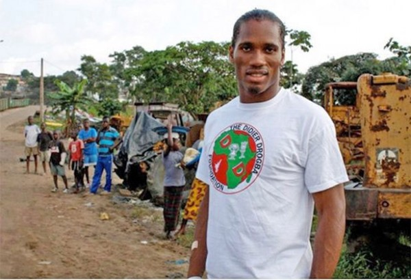 Didier Drogba Reaching Out to the Underprivileged Through His Charity Foundation.