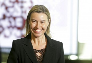 European Union foreign policy chief Federica Mogherini arrives to the Eastern Partnership Summit session in Riga, Latvia, May 22, 2015. REUTERS/Ints Kalnins