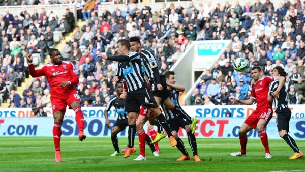 Victor Anichebe Scores His Fifth Goal Against Newcastle at St. James' Park. Image: Getty.
