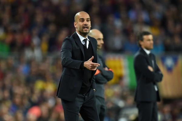 Animated Pep Guardiola Dishes Out Instructions to His Players at the Niu Camp. Image: Getty/AFP.