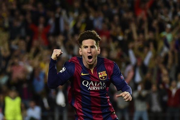 Lionel Messi is Back in Front of Cristiano Ronaldo on the List of Highest Scoring Players in the History of the European Cup with 77 Goals. Image: AFP/ Getty.
