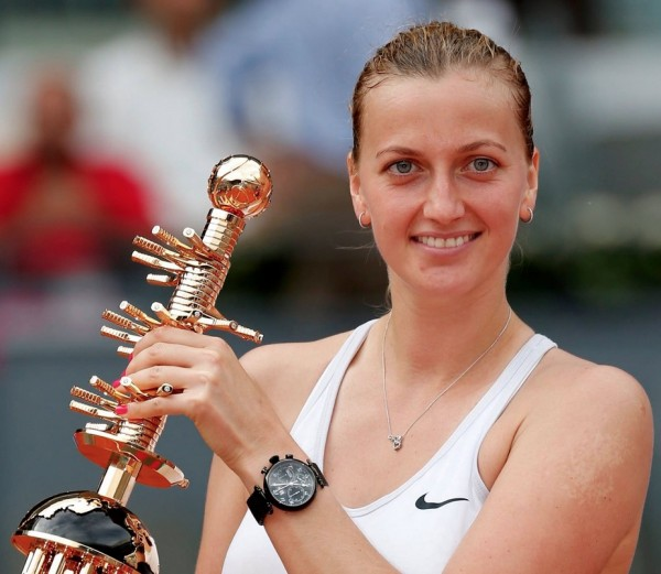 Petra Kvitova Wins Second Title on Madrid Clay. Image: Getty.