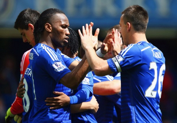 Didier Drogba Has Now Won the Premier League Title Three Times With Chelsea.  Image: Getty.