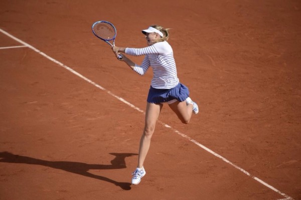 Maria Sharapova Will Face Sam Stossur in the third Round of the 2015 French Open. Image: RG via Getty.