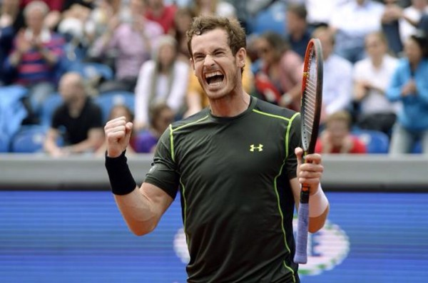 Andy Murray Celebrates After Winning His First Title on Clay. image: Getty.