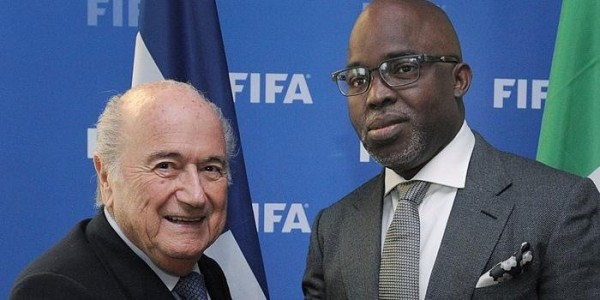 Sepp Blatter and Amaju Pinnick Met in Zurrich on Monday Afternoon. image: NFF.