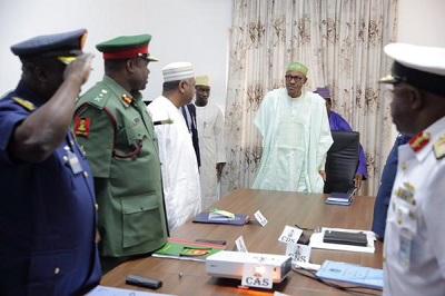Buhari-Service Chiefs