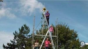 German-man-breaks-Guinness-record-with-30-foot-tall-sunflower-plant