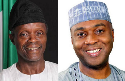 "Osinbajo thanks Saraki for ""not taking over power"" before he and Buhari were sworn into power"