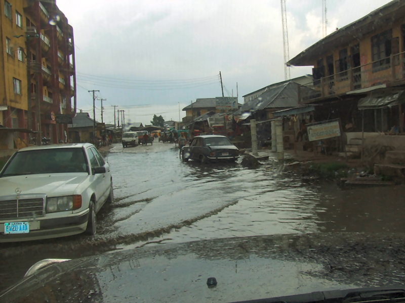 File Photo: A Road In Aba, Abia State