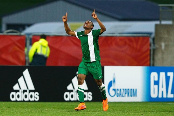 Godwin Saviour Celebrates Acoring against Korea DPR. Image: Fifa via Getty.
