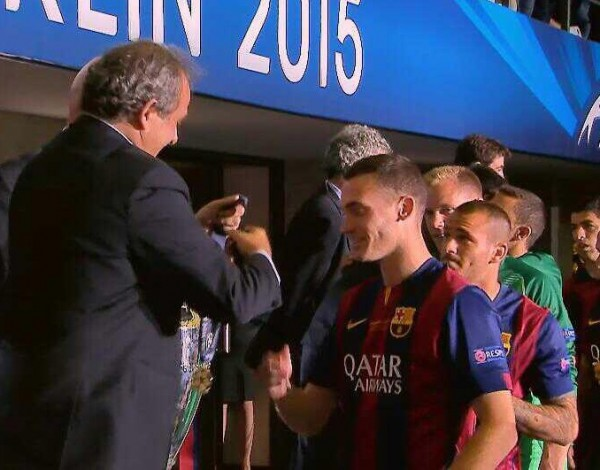 Thomas Vermaelen Told to Return Champions League Winner's Medal. Image: SkySport TV.