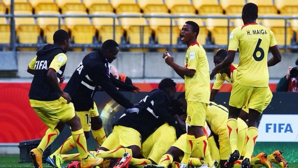 Mali Players Celebrate after Reaching the Quarter-Final of the 2015 FIFA Under-20 World Cup. Image: Getty.