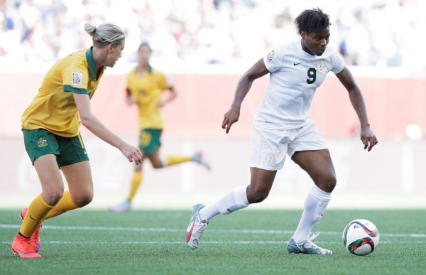 Desire Oparanozie Pictured against Australia at the 2014 World Cip. Image: AFP.