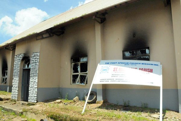 The First African Church Mission in Jos was also attacked by a suicide bomber on Sunday. Photo: GETTY IMAGES