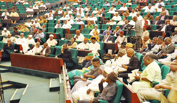 PIC.34. MEMBERS OF HOUSE OF REPRESENTATIVES AT A SPECIAL SITTING TO MARK END OF THE 2ND YEAR  OF THE 7TH ASSEMBLY IN ABUJA ON THURSDAY (6/6/13).